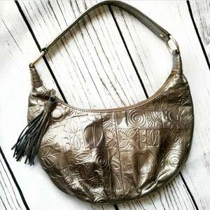 SIGRID OLSEN new hobo shoulder bag tassel leather